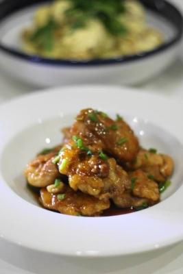 ノンオイルで作る鶏もも肉の照り焼きa