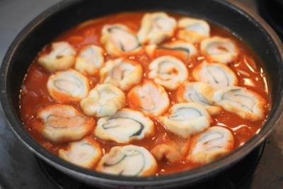 焼き麩のトマトジュース煮込み1