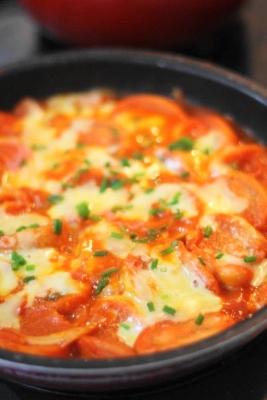 焼き麩のトマトジュース煮込み