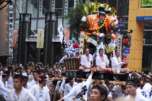 博多祇園山笠 追い山 七番山笠