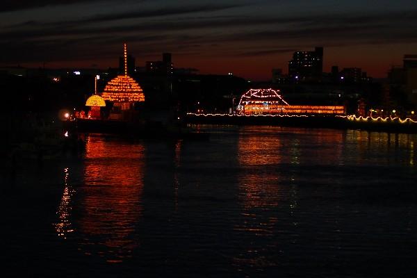名古屋市熱田区神戸町 堀川祭り まきわら船