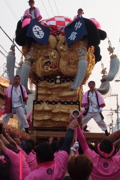新居浜夏祭り 中筋太鼓台