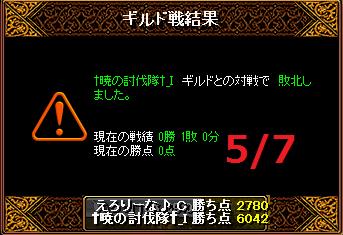 5月7日えろりなvs†暁の討伐隊†