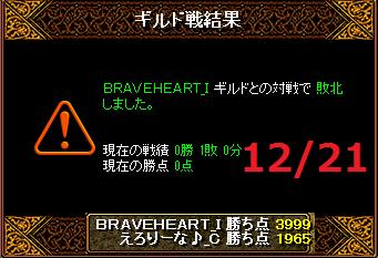 12月21日えろりなvsBRAVEHEART