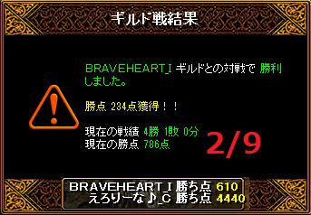 2月9日えろりなvsBRAVEHEART