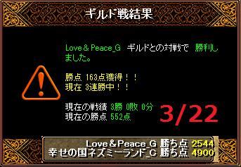 3月22日ネズミーvsLove&Peace
