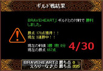 4月30日えろりなvsBRAVEHEART