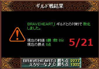 5月21日えろりなvsBRAVEHEART
