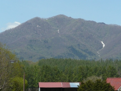 谷筋に残る雪