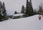 棚田の家の雪掘り ビフォー