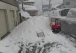 屋根雪の廃雪