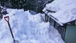 棚田の雪掘り