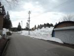 県道脇の春先除雪