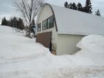 作業場は雪の中