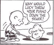 シュローダー_ピアノ(9)なぜルーシーはピアノを下水溝に?