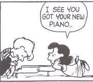 シュローダー_ピアノ(26)新しいピアノが届いたのね