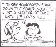 シュローダー_ピアノ(25)わたしは競争相手を下水へ捨ててやったわ。あとは彼がわたしを愛するようになるまで 時間の問題