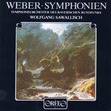 ウェーバー 交響曲第1番、第2番 サヴァリッシュ(Orfeo )