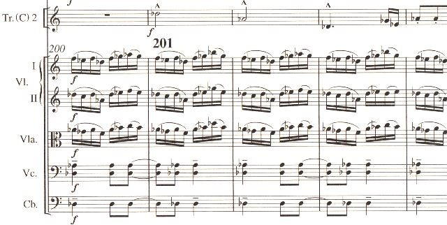 バルトーク「管弦楽のための協奏曲 」p.122から 音楽之友社