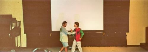大教室で上映 舞台挨拶