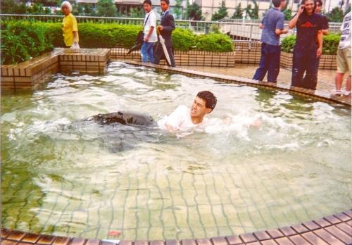英雄青年 池落ち2