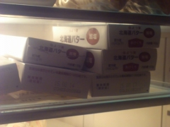 冷蔵庫のバター。