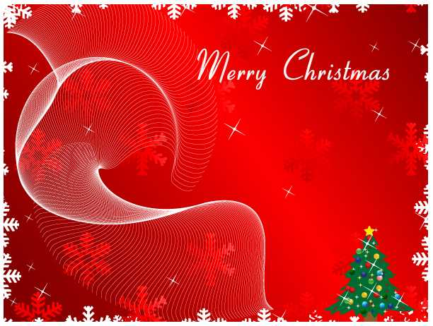 Merry Christmas Greeting Card on Red Background Vector - Download Free Vector Graphic Designs - 123FreeVectors