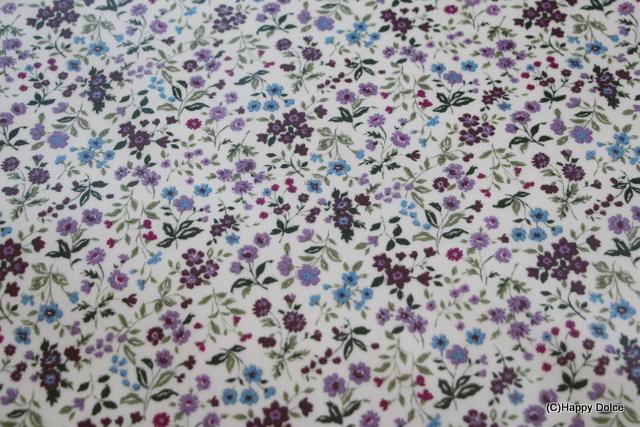 リバティ風小花柄 紫