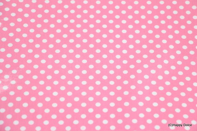 7㎜ドット ピンク×白
