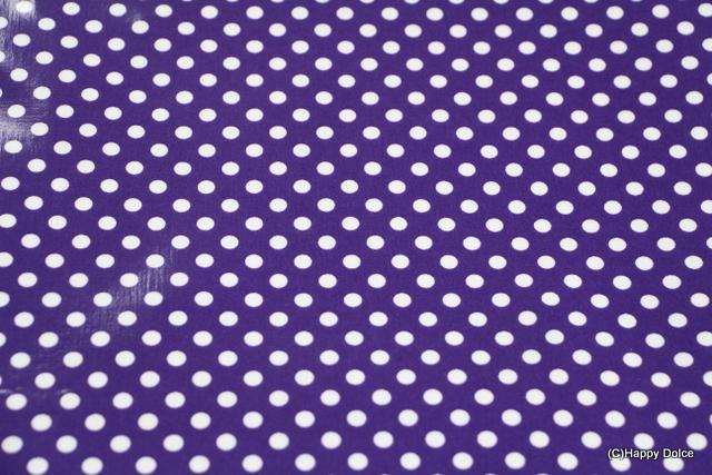 7㎜ドット 紫×白