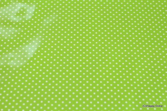 4mmドット 黄緑×白