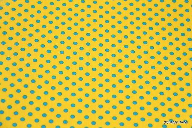 7㎜ドット 黄色×水色