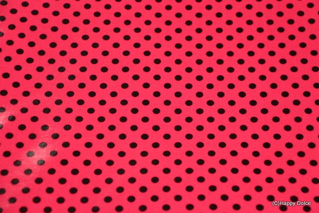 7㎜ドット 濃ピンク×黒