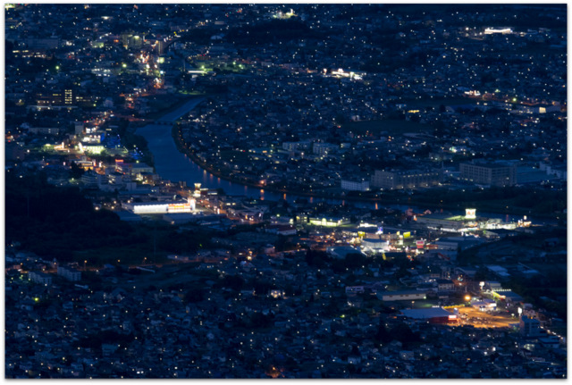 青森県 下北 むつ市 釜臥山 夜景