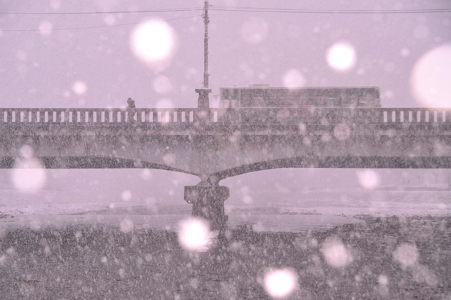 大雪、2015年。
