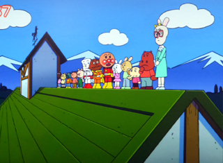 校舎屋根立ち