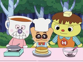 クリームパンダとホットケーキマン