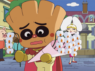 クリームパンダとコチョウランさん