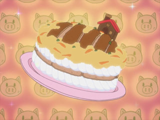 かつ丼ケーキ