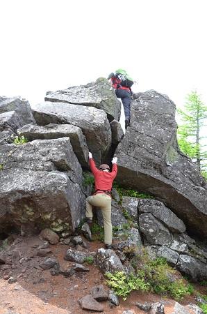 186岩登り