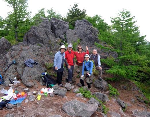 DSCF1878山頂でバッタリ
