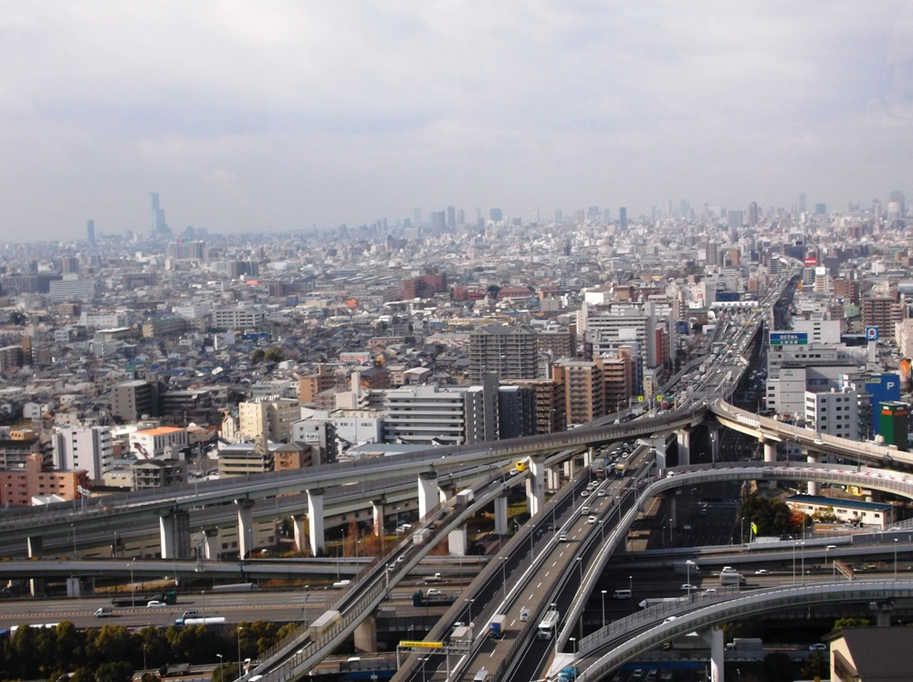東大阪市役所よりの眺望