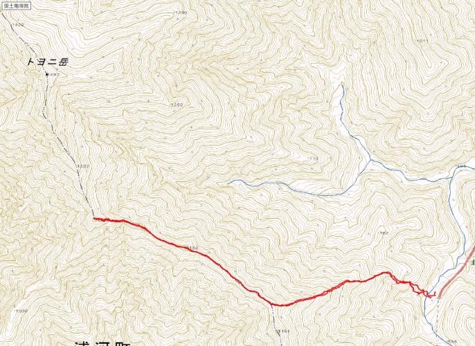トヨニ岳トラック20150118