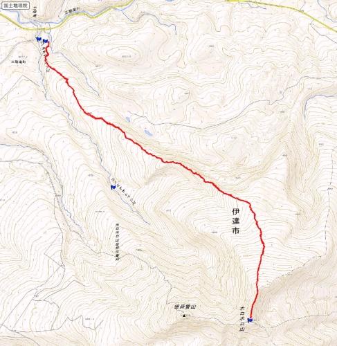ホロホロ山 三階滝トラック20150314