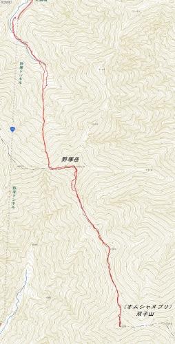 野塚岳 沢ルート20150423