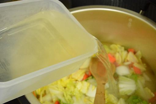 雉スープ投入20150117