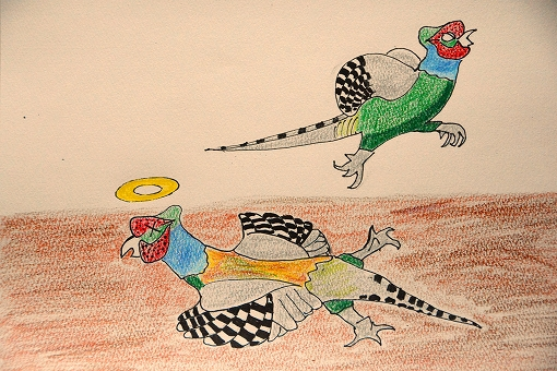 一羽逃げる雉20150130