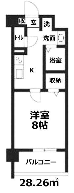 ■物件番号4470 テラスモール10分!辻堂駅12分!1Kマンション!オートロック!1階がコンビニで便利!7.1万円!