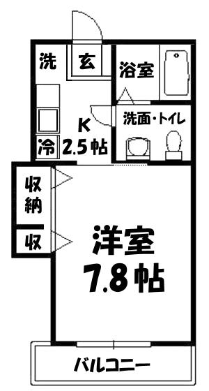 ■物件番号3936 辻堂海側!広めの7.8帖1K!BT別!2口ガスコンロ可!敷0・礼0!5.6万円!!!]