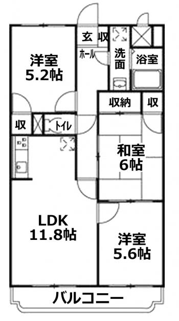 ■物件番号3939 海側!ファミリー3LDKマンションが8.5万円!敷金・礼金ダブルゼロ!敷地Pあり!り